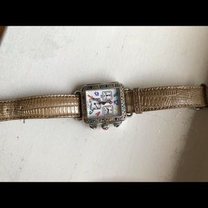 Michele watch multi colored stones